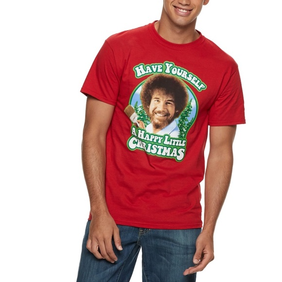 Bob Ross Other - NEW Bob Ross Christmas Tshirt Size XL